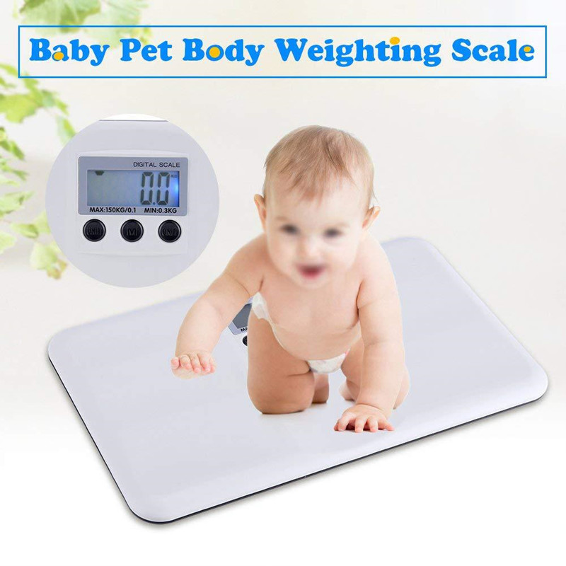 Hot Top Quality LCD Digital Electronic Baby Electronic Scale Portable Plastic Anti-fall Baby Pet Weight Scale 0.3kg-150kg