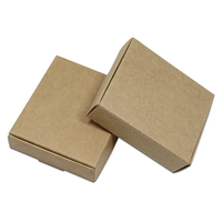 DHL Wholesale Party DIY Candy Biscuits Cosmetic Packaging Boxes Small Gift Package Box Wedding Brown Kraft Paper Packing Box