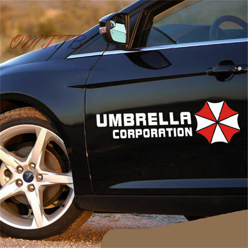 57*18cm Universal Umbrella Corporation Reflective Vinyl car Sticker Auto Door Refitting Exterior Decor Decal Car Styling