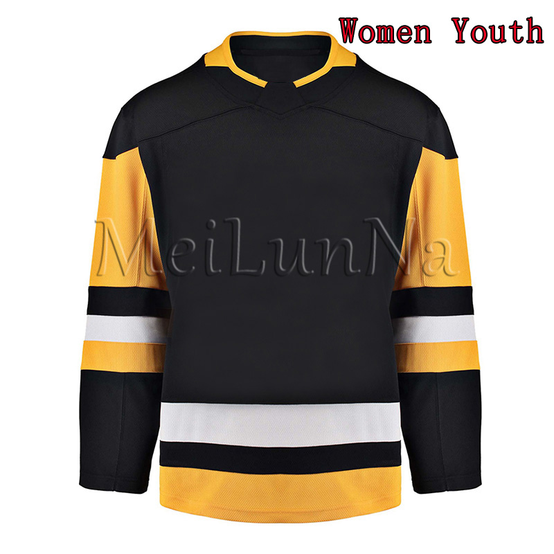 Sidney Crosby Kris Letang Evgeni Malkin Mario Lemieux Matt Murray Jake Guentzel Women Youth Pittsburgh Blank Hockey Jerseys