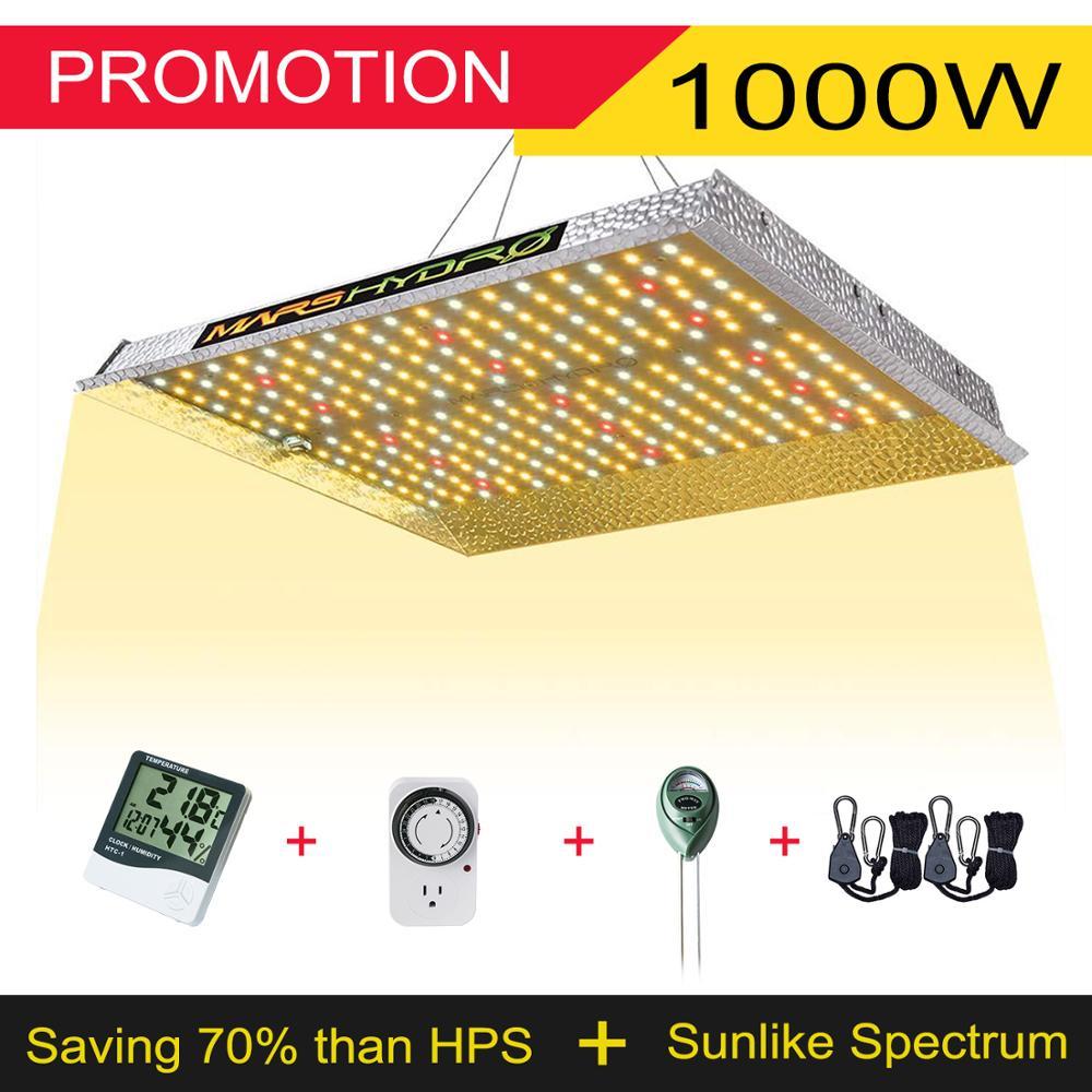 Marshydro led crescer espectro completo de luz ts 1000 w sistema hidropônico planta interior led crescer luz tenda e crescer luzes painel