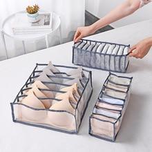 Organizer Storage-Box Underwear Closet Foldable 7-Grids Socks Scarfs Bra Household