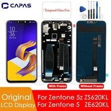 Orijinal Asus Zenfone 5z ZS620KL LCD ekran Için Çerçeve ILE Zenfone 5 ZE620KL LCD Ekran Digitizer Yedek Yedek Parçalar