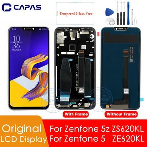 Image 1 - Pantalla LCD Original para Asus Zenfone 5z ZS620KL, con marco para Zenfone 5 ZE620KL, reemplazo del digitalizador de pantalla LCD, piezas de repuesto
