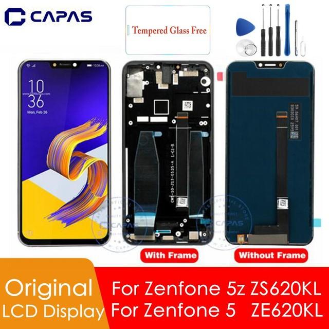 Pantalla LCD Original para Asus Zenfone 5z ZS620KL, con marco para Zenfone 5 ZE620KL, reemplazo del digitalizador de pantalla LCD, piezas de repuesto