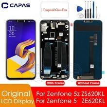 Zenfone 5 ze620kl lcd 스크린 디지타이저 교체 용 예비 부품 용 asus zenfone 5z zs620kl lcd 디스플레이 용 원본
