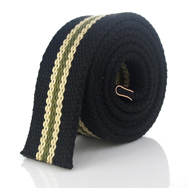 Hot Tactical Canvas Belt Body Men Women Thicken 4MM Military Width 3.8CM Designers High Quality 110-140-160cm No Buckle 3