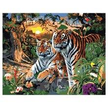 Ronde volledige diamond schilderen dier tijger, diamant borduren vierkante, 3d diy strass, borduurw