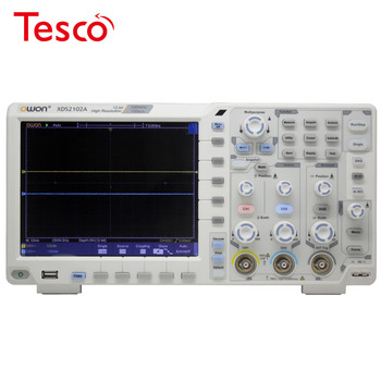 OWON XDS2102A 100MHz 12 bits High Resolution ADC Digital Oscilloscope SPI/I2C/RS232/CAN decode  XDS2102A осциллограф owon sds5032e