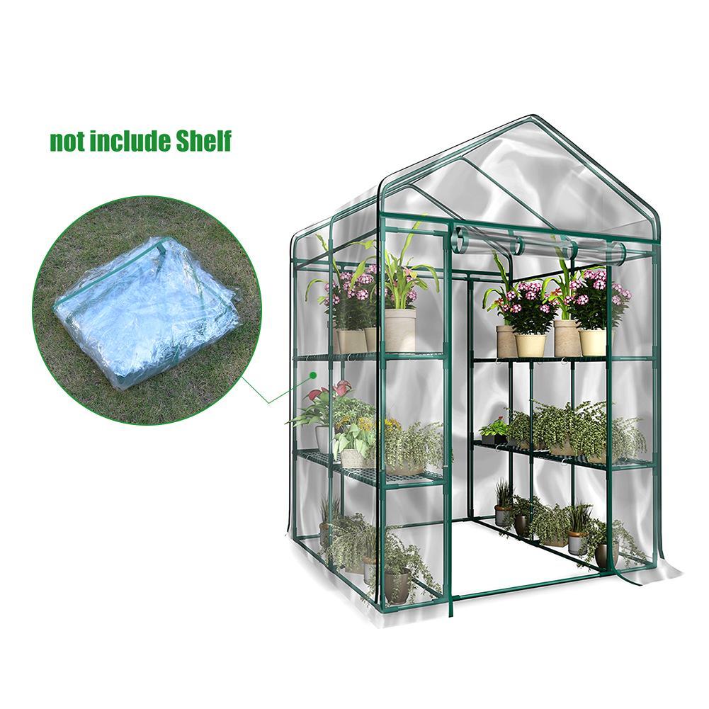 1 Uds. Cubierta de PVC para jardín y invernadero, accesorios interiores de invernadero de alta calidad de PVC para jardinería (sin soporte de hierro) Tienda de cultivo hidropónico interior para luz Led de cultivo, caja de cultivo de plantas, invernaderos de jardín no tóxicos reflectantes Mylar
