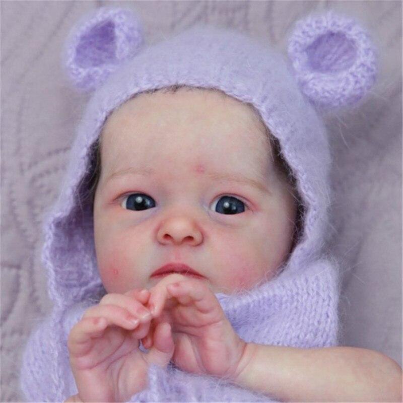 Rbg 17 polegada kit de vinil peças da boneca renascer kit mão feito do bebê levi e tink diy kit boneca em branco brinquedo macio real toque suave