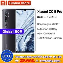Globale Rom Xiao mi mi CC9 Pro 8GB 128GB 108MP Penta Kamera Smarphone 5260mAh Batterie 10x Optische zoom Doppel Gebogene Bildschirm