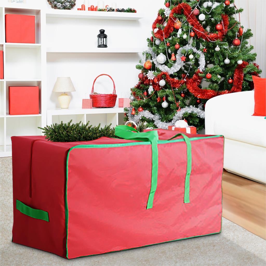 Сумка для хранения рождественской елки из ткани Оксфорд, водонепроницаемый большой контейнер для елки, усиленная широкая ручка, искусствен...
