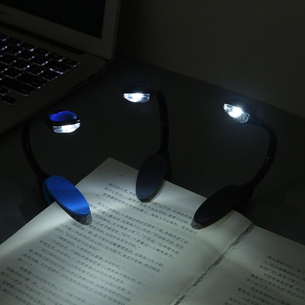 Мини-светильник для книг, Настольный светильник с клипсой, гибкий ночник, лампа для чтения для путешествий, спальни, регулируемый гибкий све...