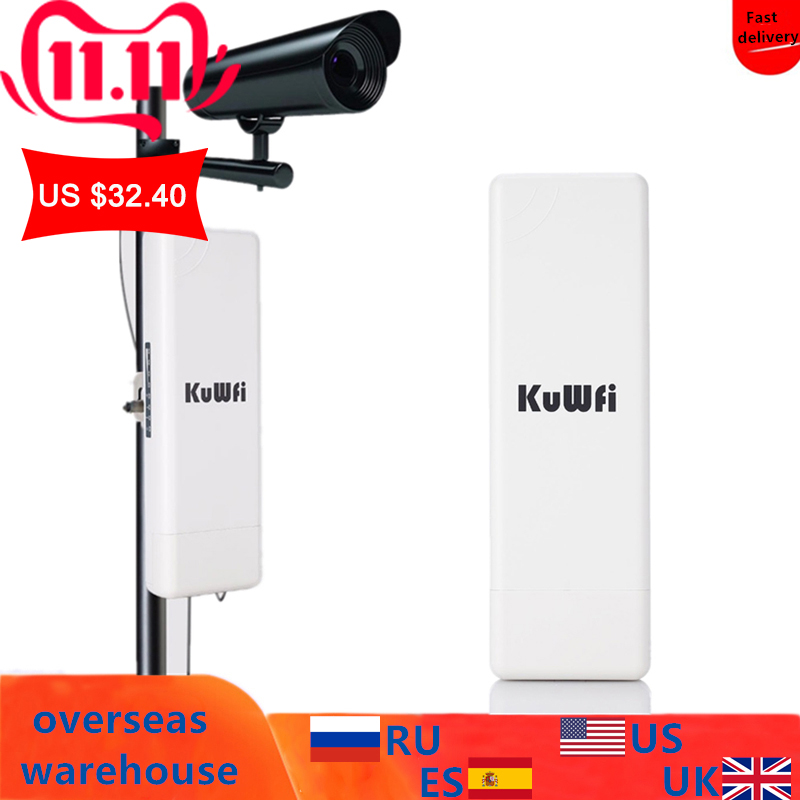 2Km Long Range Wireless Outdoor CPE WIFI Router 5.8Ghz 450Mbps WIFI Repeater Extender Outdoor AP Router AP Bridge Client Router