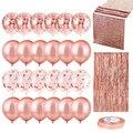 10 шт микс шар цвета розового золота конфетти шар из фольги в форме сердца День рождения свадебные шары для украшения подарок Baby Shower свадебны...