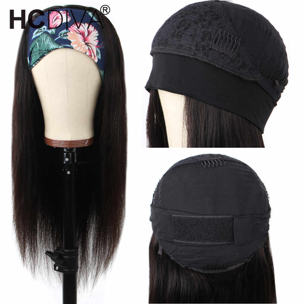 30Inch Straight Menselijk Haar Pruiken Met Hoofdband Sjaal Braziliaanse Remy Hair150 Dichtheid U Deel Pruik Voor Zwarte Vrouwen Mode stijl