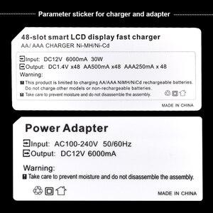 Image 4 - Palo cargador de batería de 48 ranuras, AA, AAA, luz LCD, carga rápida inteligente para batería de 1,2 V NIMH y Nicd, batería eléctrica estándar NC37