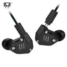 KZ ZS6 2DD+2BA Hybrid In Ear Earphone HIFI DJ Running Sport Earphone Earplug Noise Cancelling Headset Earbud kz zsx zs10 pro zax