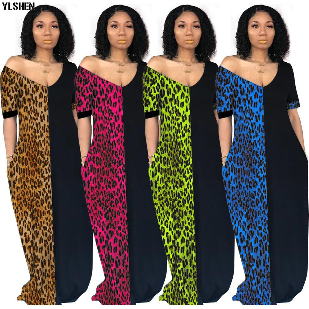 Autumn African Dresses For Women 2019 News Fashion Robe Long Dress Leopard Print Bazin Vestidos Dashiki Party African Clothes