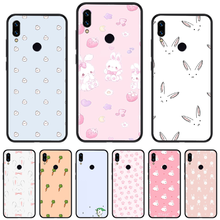 Cartoon animal rabbit pink Phone Case cover For Xiaomi Redmi Note 4 4x 5 6 7 8 pro S2 PLUS 6A PRO shell(China)
