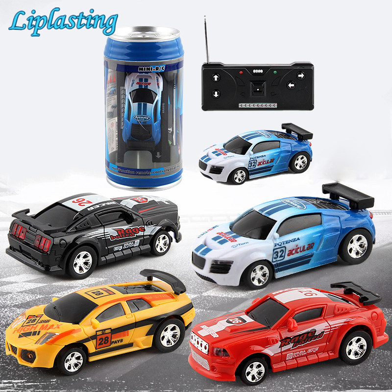 RC Cars Toy Creative Coke Can Mini Collection Radio Controlled Cars Machines On The Remote Control For Boys Kids Christmas Gift