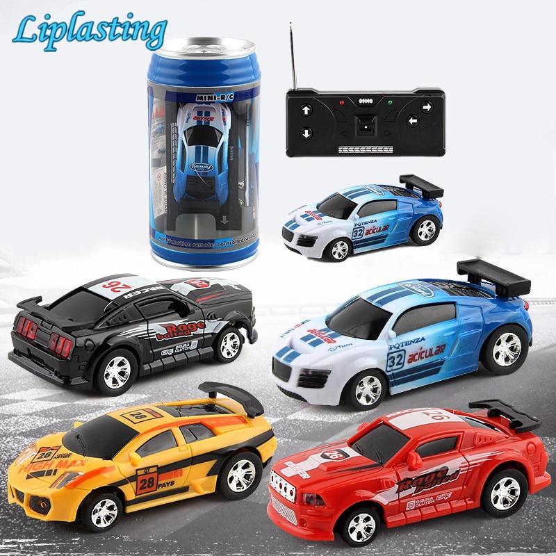 Creativo Coke Can Mini coche RC Cars colección de coches con Control remoto máquinas en el Control remoto juguetes para niños regalo TSLM1