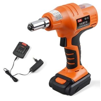 цена 14.4V Rechargeable Riveter Battery Riveting Tool Pull Rivet Nut Tool Portable Cordless Electric Rivet Gun онлайн в 2017 году