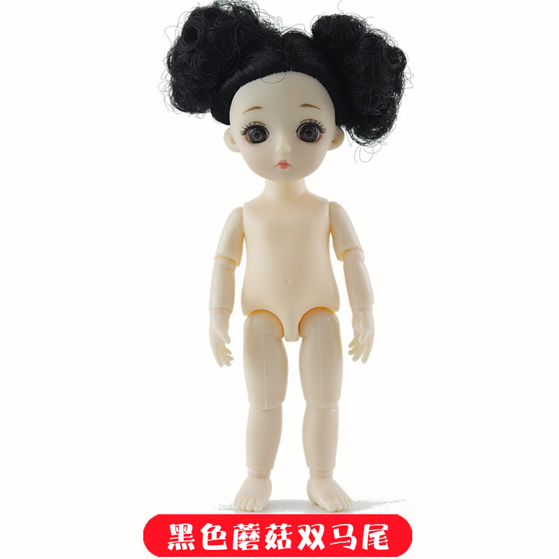 16cm 13 Movable Jointed BJD Dolls Toys Mini BJD Baby Girl Boy Doll Naked Nude Body 3D Eye Fashion Dolls Toy for Girls Gift 26