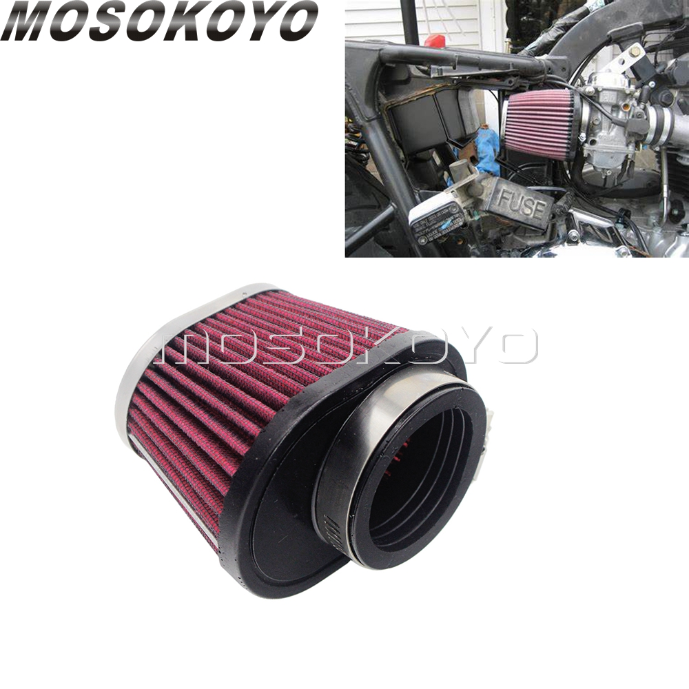 Red Motorcycle Air Filter Intake Universal High Flow Air Cleaner For Honda Benelli Yamaha Suzuki 48mm/52mm Engine Inlet