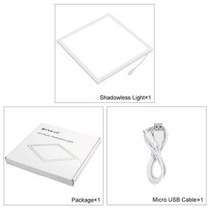 Image 4 - PULUZ 20cm Mini LED fotoğraf gölgesiz işık lambası paneli Pad gölge ücretsiz ışık, fotoğraf stüdyosu aydınlatma akrilik malzeme