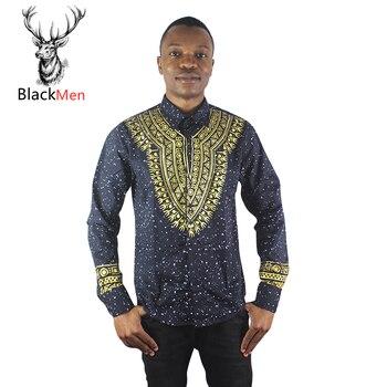 African Clothes hip hop Africa Dashiki Shirts 3d Golden printed clothing Shirt 2020