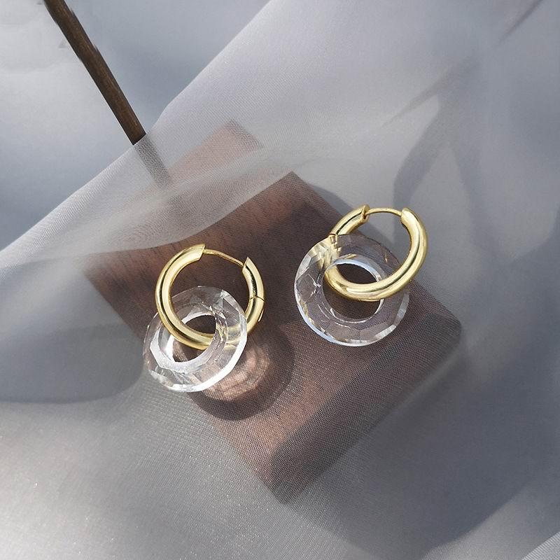 Fashion Metallic Transparent Acrylic Circle Drop Earrings For Women 2021 New Fashion Jewelry pendientes Wholesale