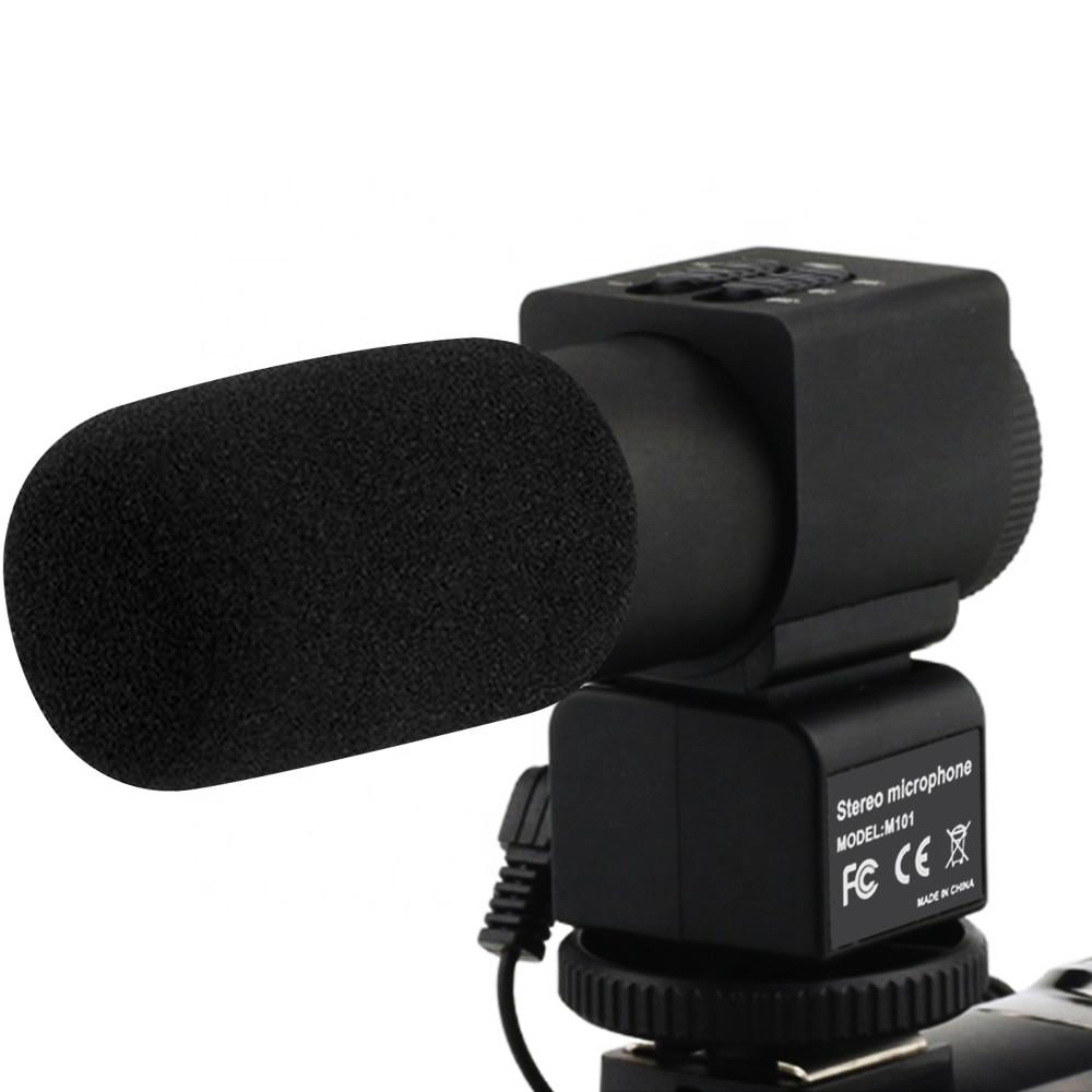 KOMERY Stereo kamera mikrofon Video dijital kamera DSLR kamera röportaj Video Mic elektret kondenser