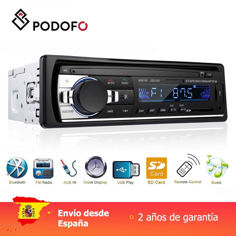 Podofo 1 din rádio do carro digital bluetooth áudio música estéreo mp3 player usb/sd/AUX-IN controle remoto