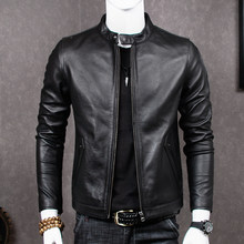 2020 Genuine Leather Jacket Men Sheepskin Coat for Men Plus Size Real Cow Leather Jackets Chaqueta Cuero Hombre MT681 KJ2283(China)
