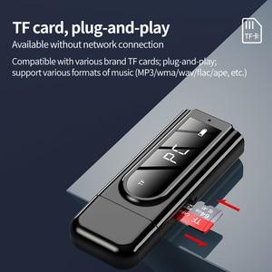 Image 5 - Bluetooth 5.0 Receiver Transmitter LED Car FM Modulator Card Reader 3.5mm AUX Jack RCA USB Wireless Audio Adapter Handsfree Mic