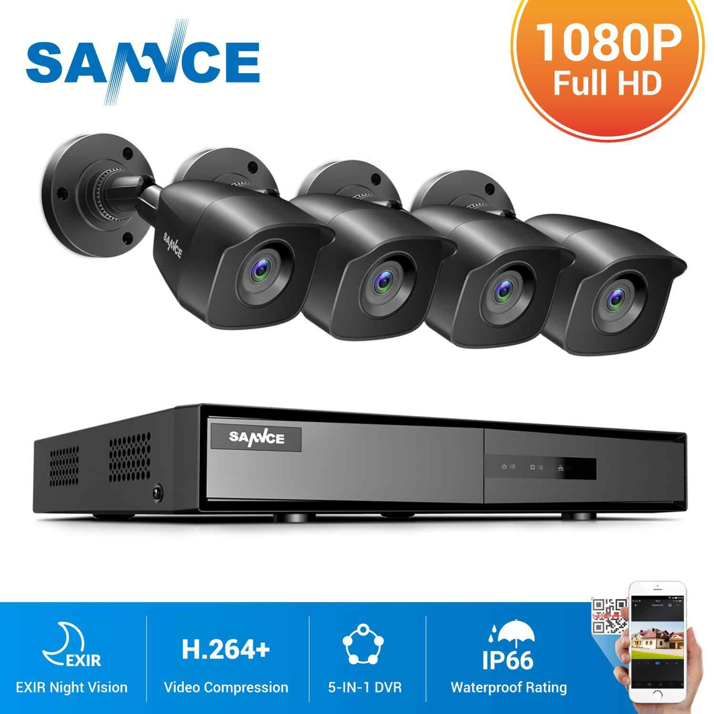 SANNCE 8CH 1080N DVR 1080Nระบบกล้องวงจรปิด1080P 2.0MP Securityกล้องIRกลางแจ้งIP66ชุดการเฝ้าระวังวิดีโอMotion Detection