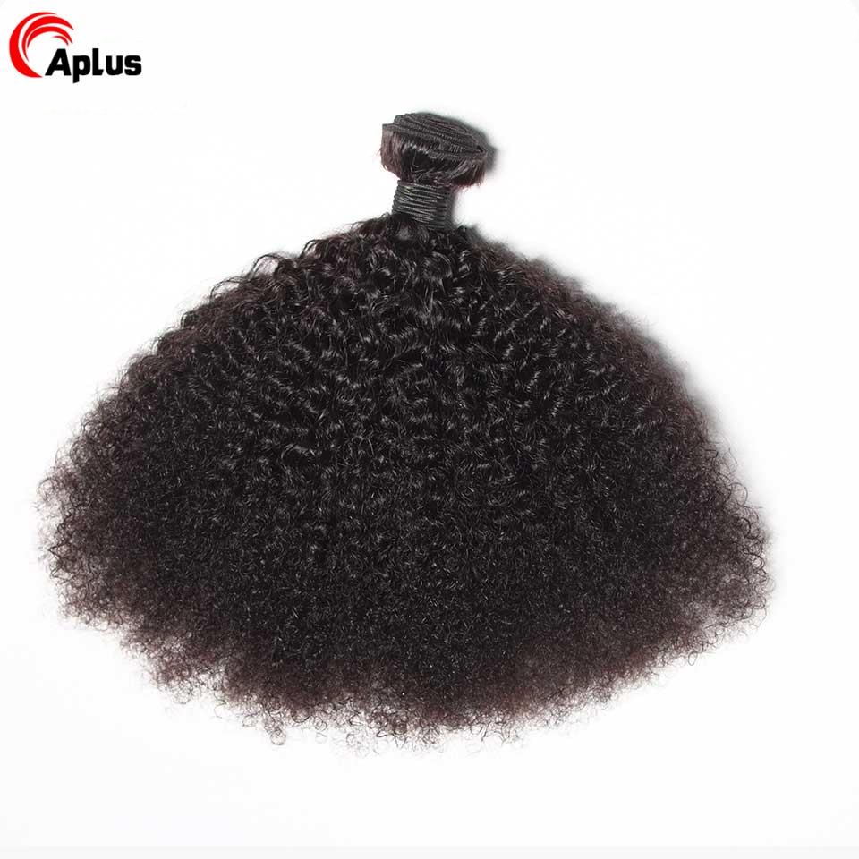 Tissage-en-lot-mongol-naturel-Non-Remy-Black-Cheveux-cr-pus-boucl-s-Afro-Extensions-de
