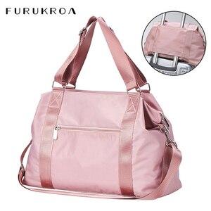 Image 1 - 2020 Women Travel Bag Fitness Gym Bag For Female Training Sports Yoga Sport Bag Carry On Luggage Duffle Tote Handbag XA793WB