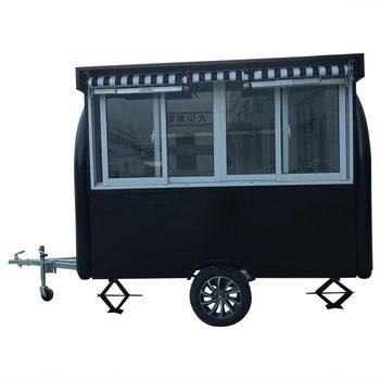 custom made food truck concession food trailer Black Food Truck Concession Food Trailer