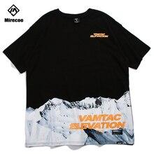 Mirecoo T-shirt Men Iceberg Elevation Printed Letter Funny T-shirts Hip Hop Skateboards Streetwear Tops Tee Harajuku Casual 2019