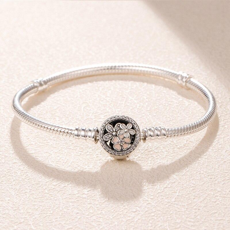 NEW 100% 925 Silver chain bead charm Bracelet Bangle for Women jewelry making,1pz