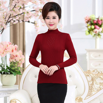 Women Slim Fit Pullover Sweater Winter Autumn Sequined Knitting Tops Female Crew Neck Knitwear Plain Colour Jumper Mujer Jersey 2019 autumn ruffles sweater women sweet flare sleeve slim winter sweater pullover o neck casual female jumper knitwear tops