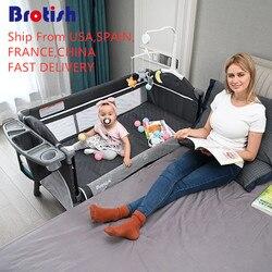 Cama de bebé, centro de juegos para dormir, cuna de recién nacido, cama con sombrilla de 7 piezas para recién nacidos a 20kg, cuna portátil para bebés
