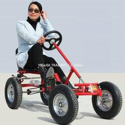 16 pulgadas rueda de adultos go-karts con freno de mano pedal para adultos ir kart puede cargar 100KG