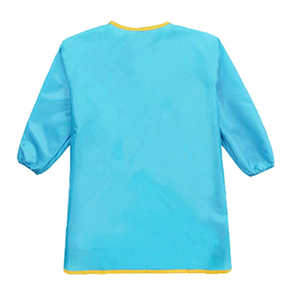 Long Sleeve Apron Kids Custom Waterproof Smock For 90 150cm Height Children Aprons     - title=