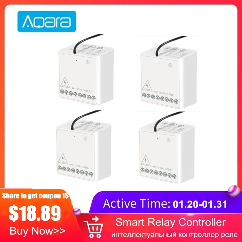 Aqara Two-way Module Smart Setting Timer Zigbee Wireless 2 Channels Relay Controller Works With MI Home Homekit