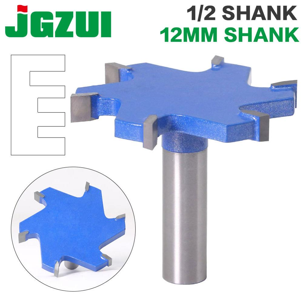 """1pc 1/2"""" Shank 12mm Shank 6 Edge T Type Slotting Cutter Woodworking Tool Router Bits For Wood Industrial Grade Milling Cutter"""