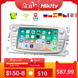 """Image 1 - Hikity 2 din Car Radio 7"""" Android 8.1 Car Multimedia Player GPS WIFI  Autoradio IOS Android Mirrorlink for Ford Focus Car Stereo"""